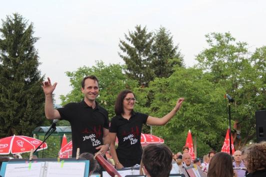 Die beiden Leiter der Brassinis und der Brass Company Stefanie Zieser und Andreas Füsselberger