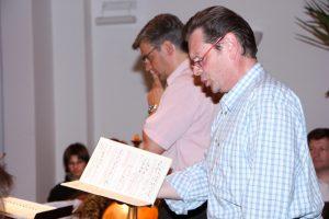Probenarbeit mit Anton Scharinger Haydn-Projekt 2009