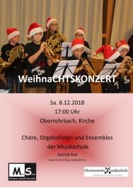 Weihnachtskonzert in Oberrohrbach